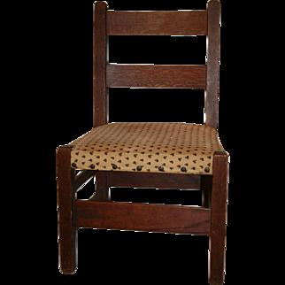 Signed Gustav Stickley Child's Chair, 1910