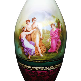 SALE RS Suhl Bowling Pin Shape Hand Painted Vase