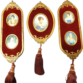 SALE Early 20th Century Collection of Miniature Portraits