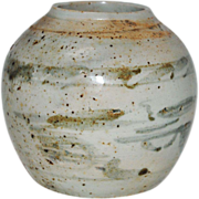 Chinese Ming Style Pottery Jar With Cranes