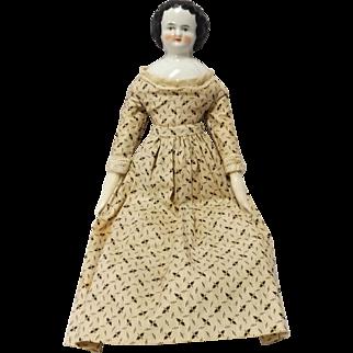 """SALE Vintage Porcelain 12"""" China Doll"""