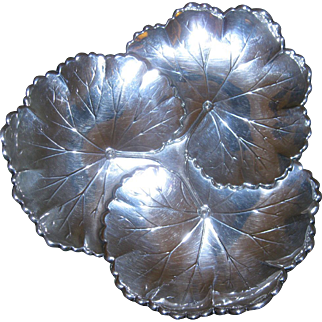 Sterling Silver Lily Pad Tray