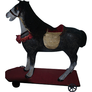 Stunning Antique Horse Pull Toy