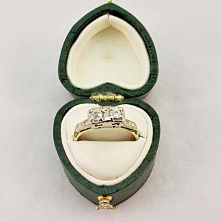 SALE Vintage Double Diamond Ring