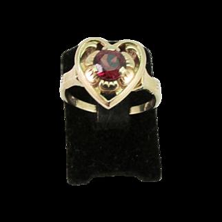 SALE Vintage Ladies Garnet Ring