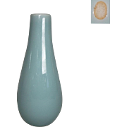Japanese Nabeshima-seiji or Blue Porcelain Vase by Famous Potter Choshun Ogasawara IX