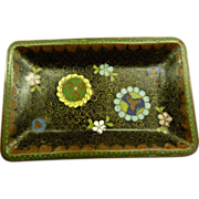 Antique Japanese Cloisonne Style Plate