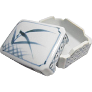 Japanese Arita Mikawachi Hirado 三川内 平戸市 Ware  Porcelain Fukusa or Napkin box for Tea Ceremony