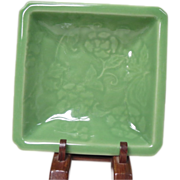 Japanese Antique Unusual Nabeshima 鍋島  Celadon Plate