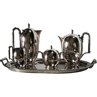 REDUCED Modernist Silverplate Tea & Coffee Service by Rogers