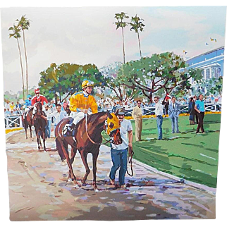 """SALE """"Riders Up"""" Signed/Numbered Serigraph by Robert Schaar-- S A L E"""
