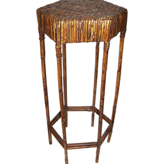REDUCED Antique Bamboo Plant Stand C. 1900 **SALE**