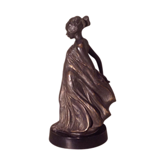 American Art Deco era figure of a lady