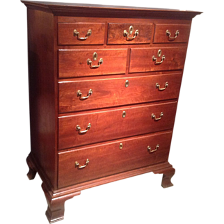 American Chippendale chest c.1780-1800