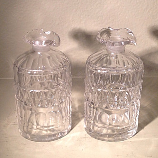 Pair of late 19th cent. British decanters