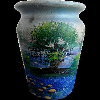 Texas Bluebonnets Texas Centennial 1836-1936 Meyer Pottery Vase