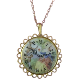 Limoges Style Porcelain Necklace