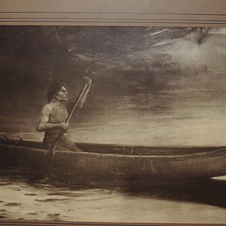 Antique Benjamen Eggleston Carbon Photogravure Art Print