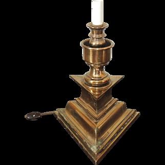 Vintage Stiffel Triangular Base Desk Table Lamp