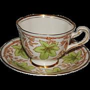 Royal Chelsea Bone China Cup & Saucer Leaf & Vine
