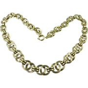 Mid-Century 14kt Gold Curb Link Chain Necklace