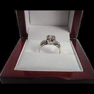 SALE 14K Gold .45 cttw Diamond Ring