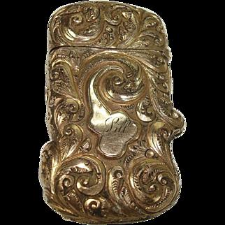 Victorian Gold Filled Match Safe or Vesta