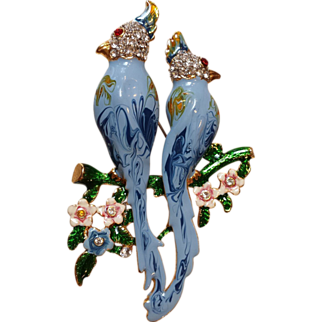 Bird of Paradise Mock-Duette Brooch