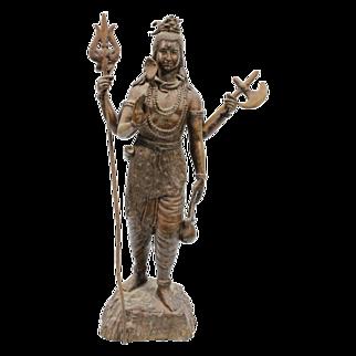 Vintage Bronze Shiva Statue Sculpture Art Hindu Deity Heavy Fine Detail Quality