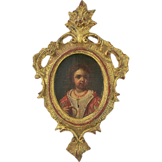 Eighteenth Century Continental Miniature Painting Of A Child