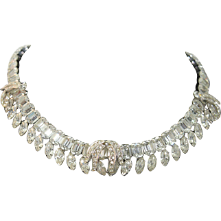 REDUCED Weiss Rhinestone Necklace Earring Set