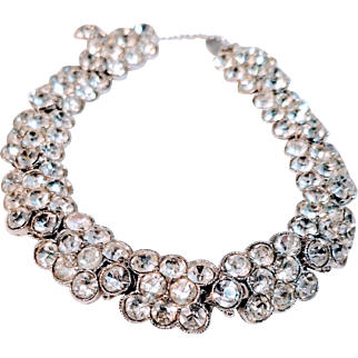 SALE Henry Bogoff Swarovski Crystal Bracelet