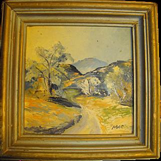 SALE Olline McDonald California Impressionist Desert Oil