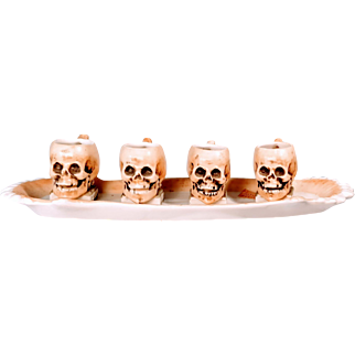 SALE Ernst Bohne Söhne Skulls on Teeth Tray Rudolstadt