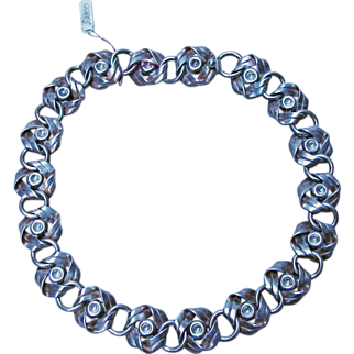 Hector Aguilar Sterling Silver (940) Necklace, has a Matching Bracelet Listed Separately