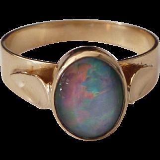 9ct Gold Fiery Opal Ring