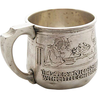 "Kerr Sterling Silver ""Moral Message"" Child's Cup CA 1914"