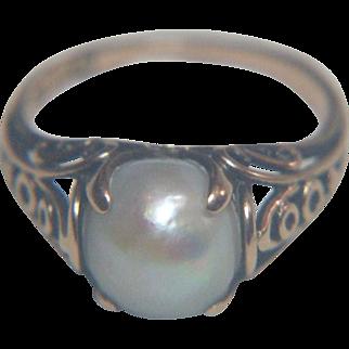 Mississippi Cultured Pearl 14 kt (585) Gold Ring