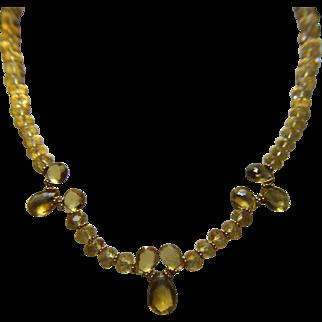 Citrine Brios & Rondel Bead Necklace - One of a Kind