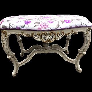 Rococo stylish bed bench, unique Italian design