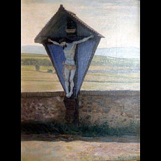 """Along the Pilgrim's Way,"" ca 1895, 24 x 18' (30 X 24"""""