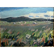 "SALE ""Wild Flowers,"" ca 1965, Oil on Canvas, 20 x 26,"" (24 x 30"")"