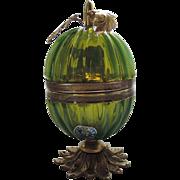 Art Deco Murano Venetian Italian Green Glass Lighter ~ RARE Fratelli Toso
