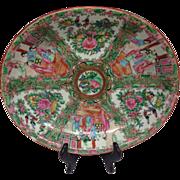 """Lovely Chinese Famille Rose Medallion Mandarin Export Medium Size Platter 11"""", 1900s"""