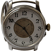 Masterpiece Longines Weems - 1931 - Rare and Unusual oversized Sterling Silver Pilot's Wristwatch