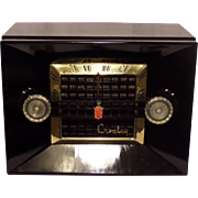 Repaired/Refurbished 1950-1952 Crosley Tube Radio Model 11-106U (Nubian Black) with Bluetooth ...
