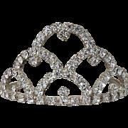 Vintage Mini Rhinestone Tiara / Doll Tiara / Doll Crown / Wedding Tiara / Rhinestone Headpiece