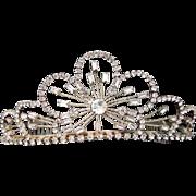 Vintage Tiara Wedding Crown / Crystal Wedding Tiara / Rhinestone Bridal Tiara / Bridal Headpie
