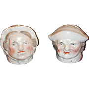 SALE Early Staffordshire Money Box Heads