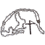 Lovely Sterling Silver and Crystals Rosary